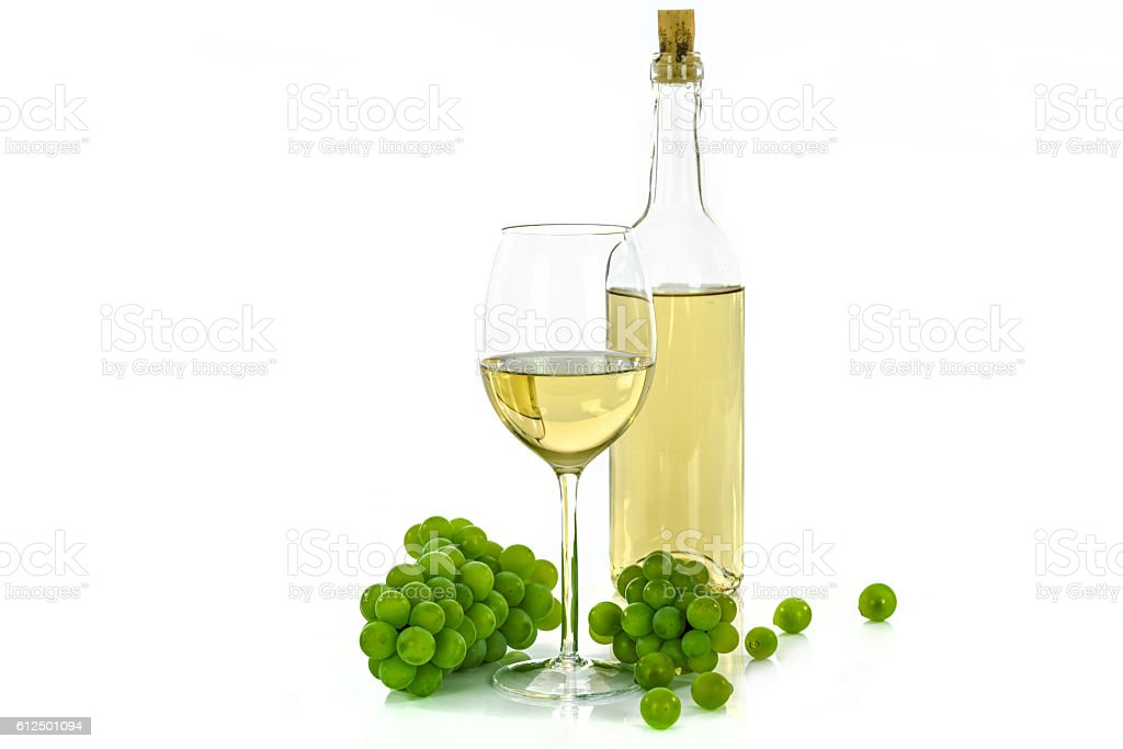 Tasty white wine stock photo