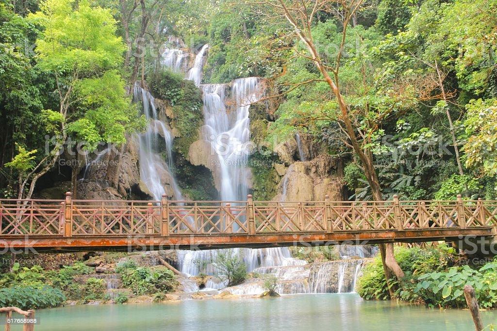 Tat Kuang Si Waterfalls of Luang Prabang ,Laos stock photo