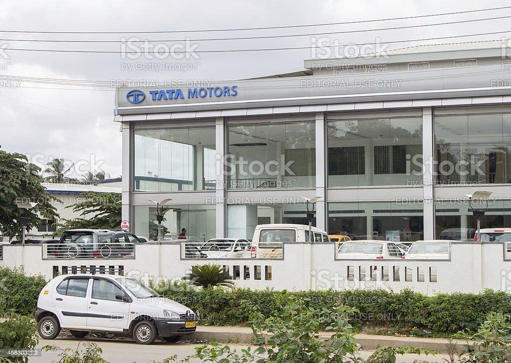 Tata Motors showroom in Bangalore, India royalty-free stock photo
