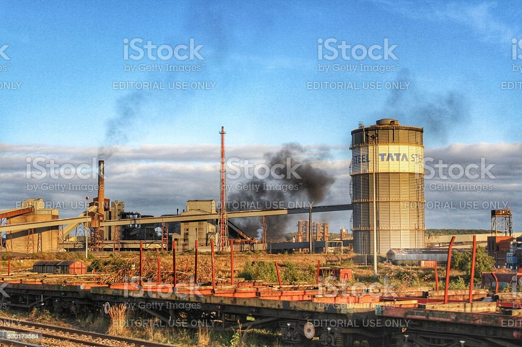 Tata Steel At Scunthorpe stock photo