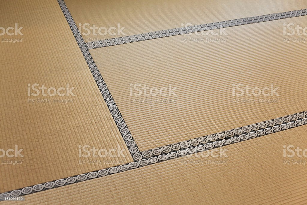 Tatami Mats in a Traditional Japanese-Style Room stock photo