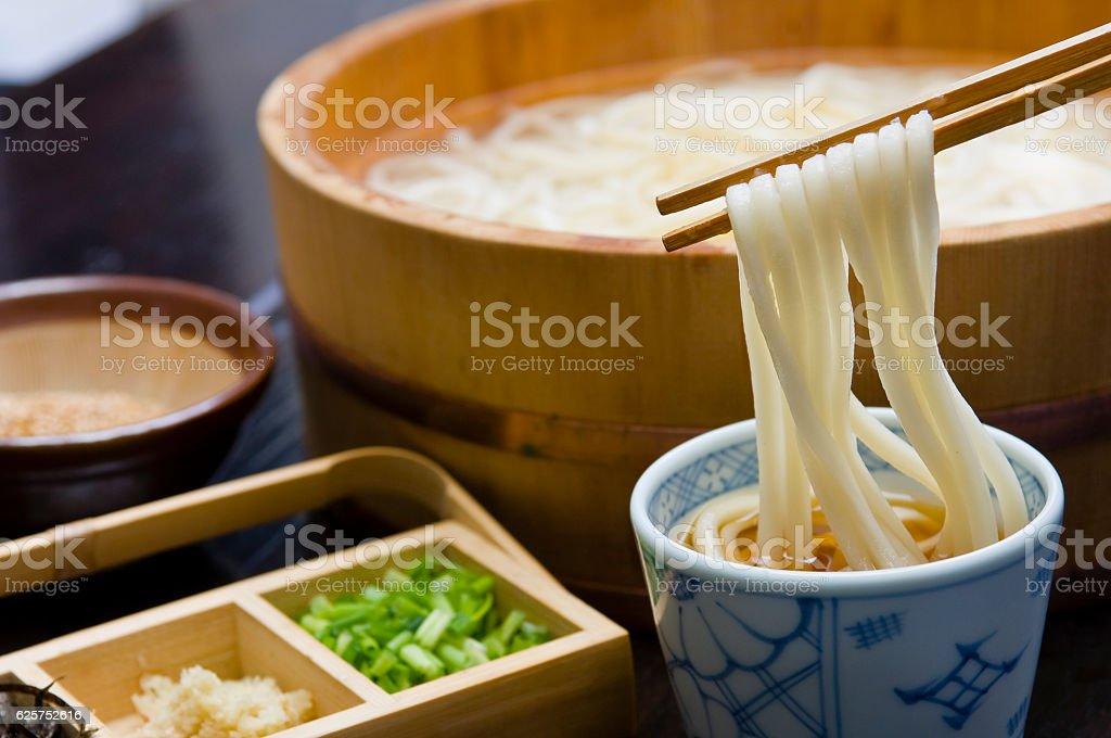 Tatami udonYu noodomi Sanuki / Kagawa / Local cuisine stock photo
