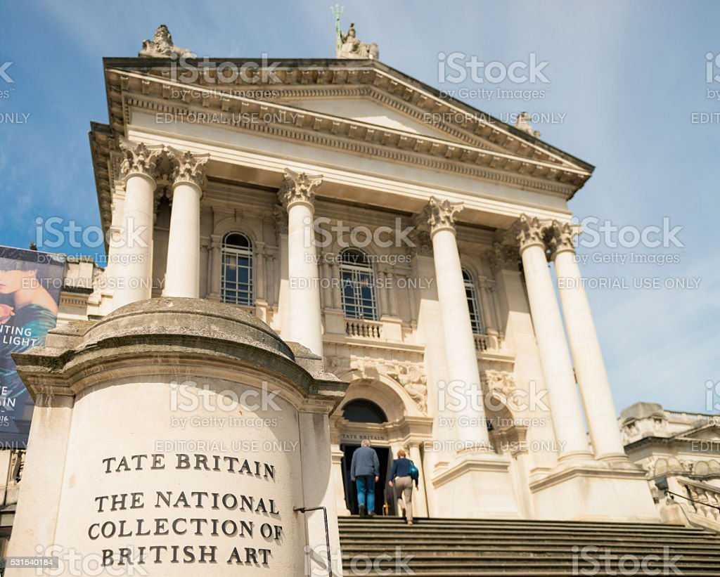 Tate Britain Art Gallery in London stock photo