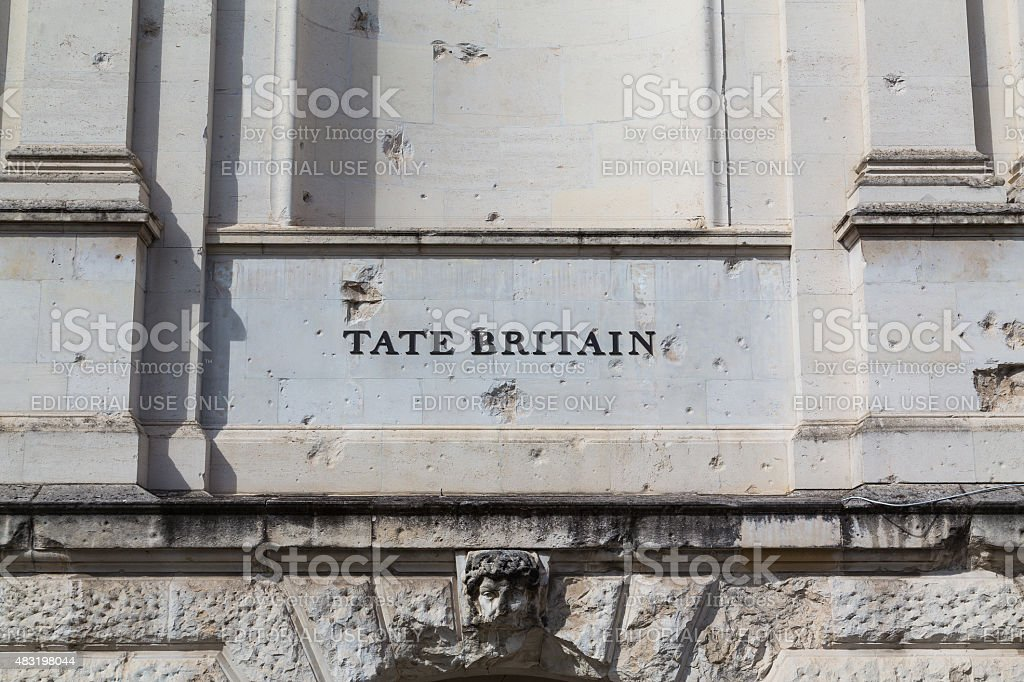 Tate Britain in London stock photo