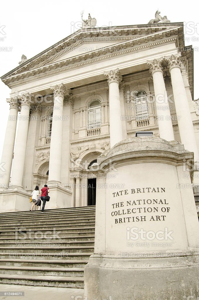 Tate Britain Portico stock photo