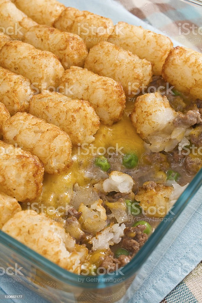 Tater Tot Casserole royalty-free stock photo