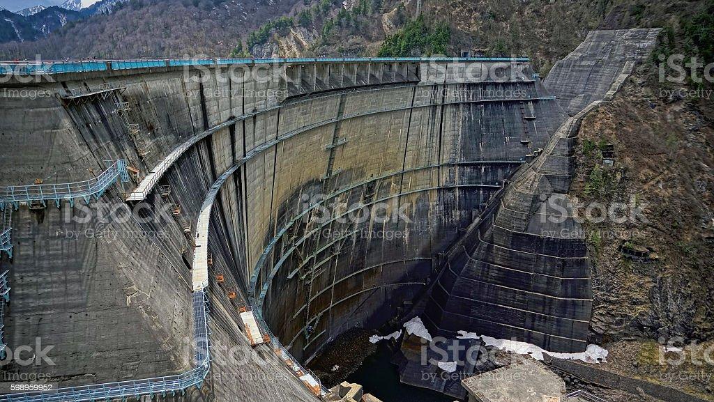Tateyama Dam stock photo