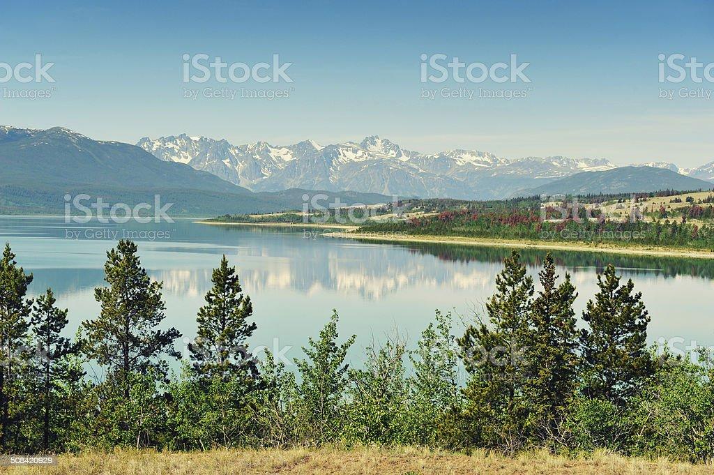 Tatla Lake in British Columbia stock photo