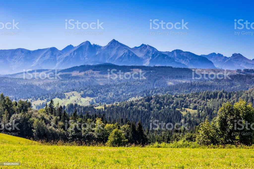 Tatra Mountains landscape in summer, Poland stock photo
