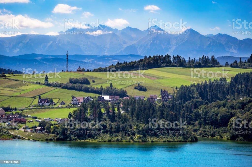 Tatra Mountains landscape stock photo