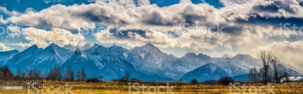 Tatra mountains panorama in the morning stock photo