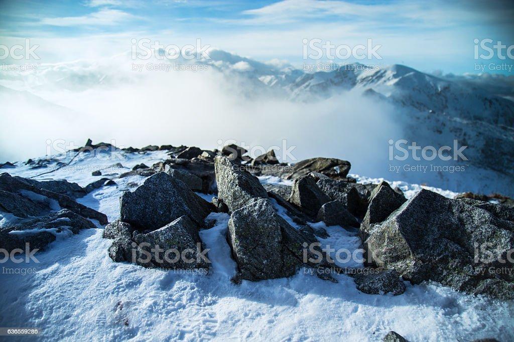 Tatra Mountains peaks stock photo