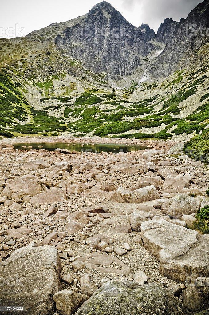 Tatra-Gebirge und Blick auf Lizenzfreies stock-foto