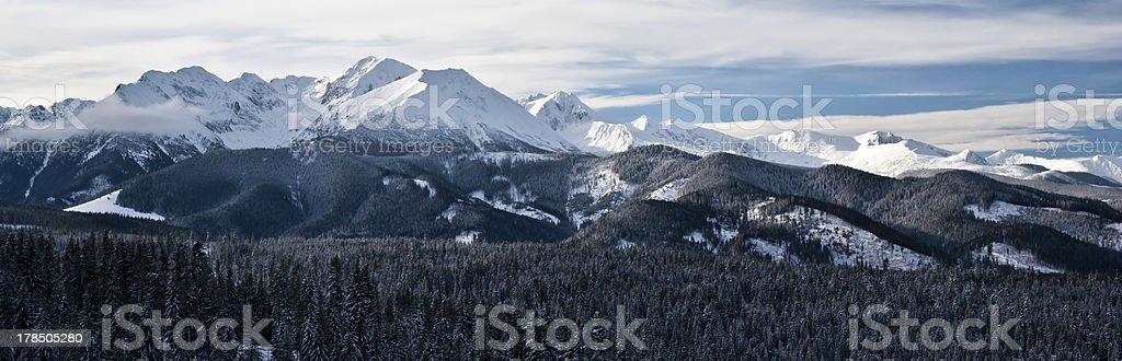 Tatra Mountains winter view royalty-free stock photo
