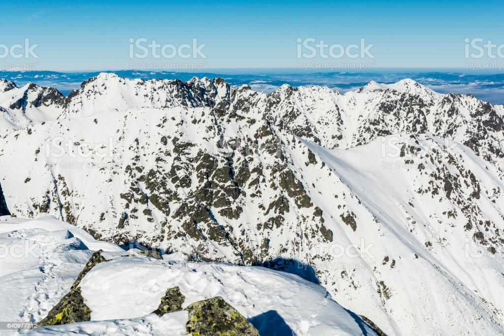 Tatras panorama winter. stock photo