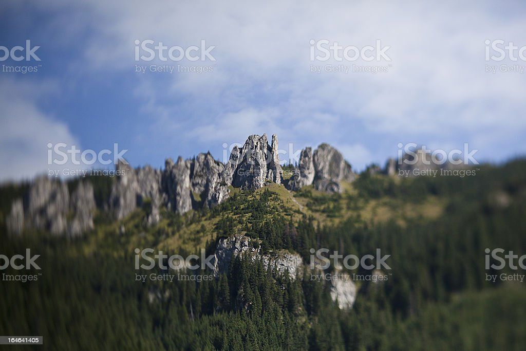 Tatras rock peaks tilt shift royalty-free stock photo