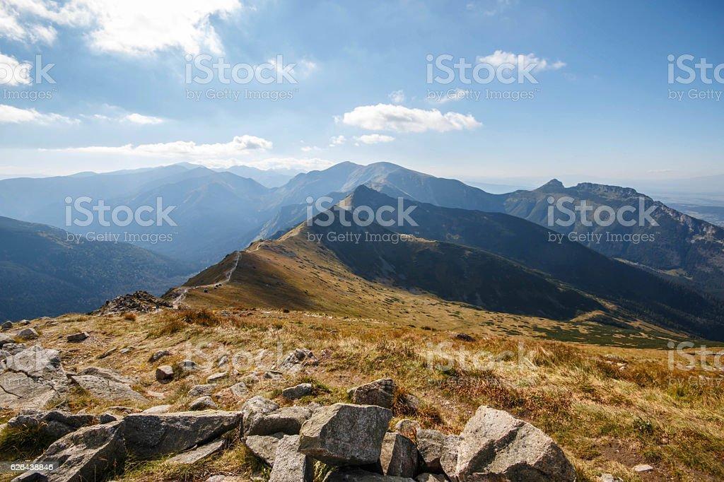 Tatry. Poland and Slovakia boundary, autumn landskapes. stock photo