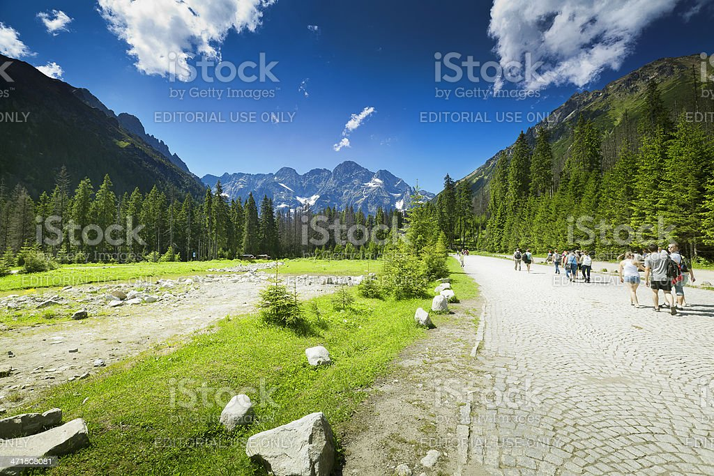 Tatry Road to Morskie Oko Lake royalty-free stock photo