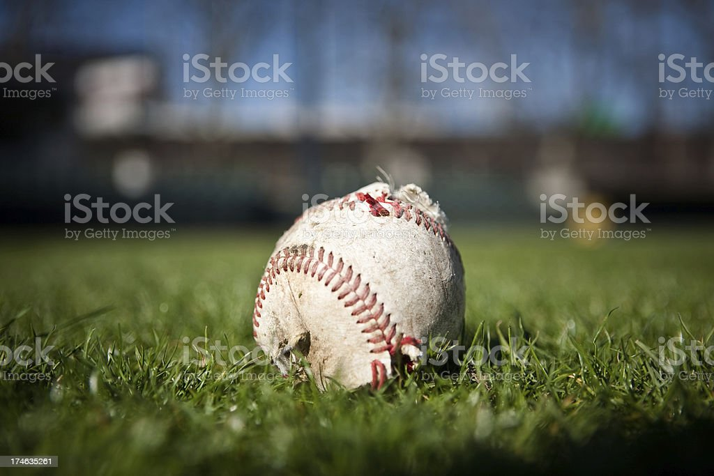 Tattered Baseball royalty-free stock photo