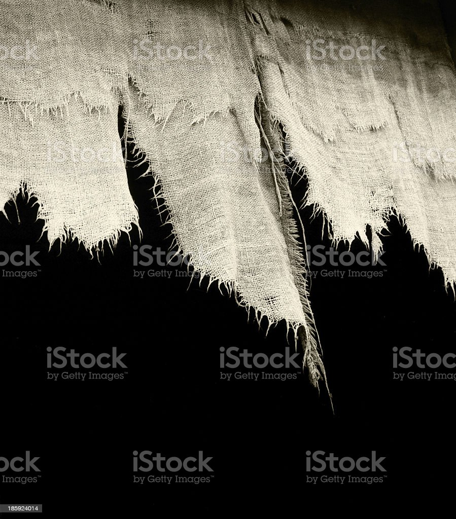 tattered old drapes stock photo