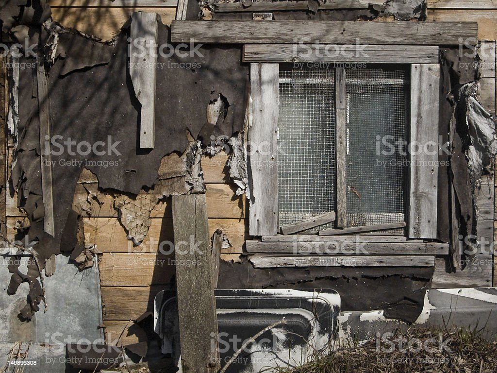 Tattered Shed royalty-free stock photo