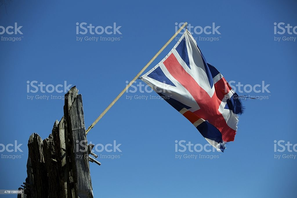Tattered Union Jack stock photo