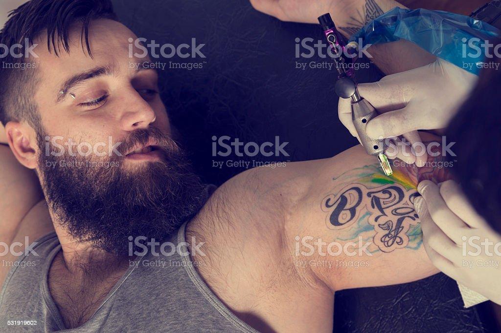 Tattoo art stock photo