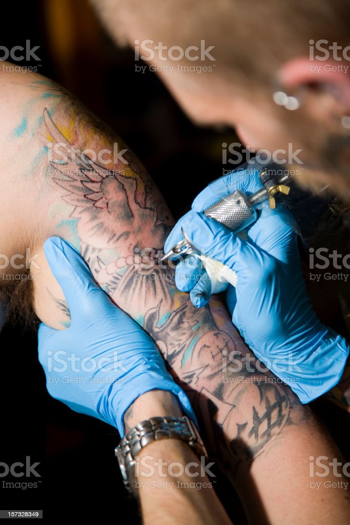 Tattoo Artist royalty-free stock photo