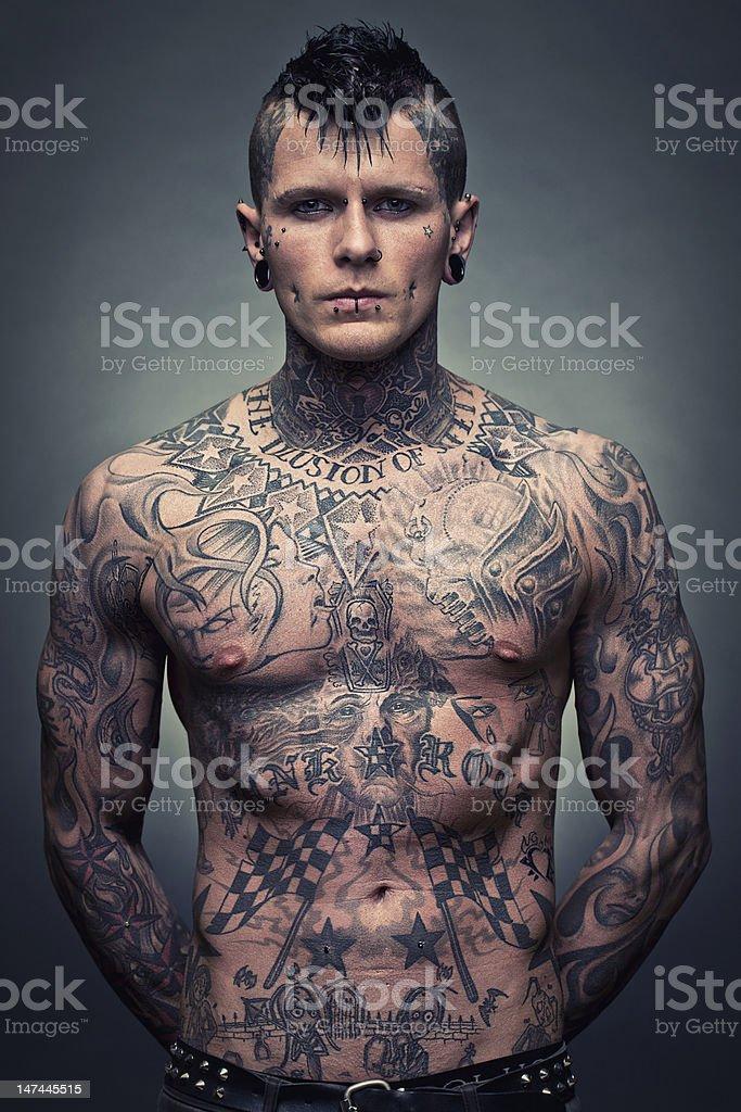 Tattoo artist portrait royalty-free stock photo
