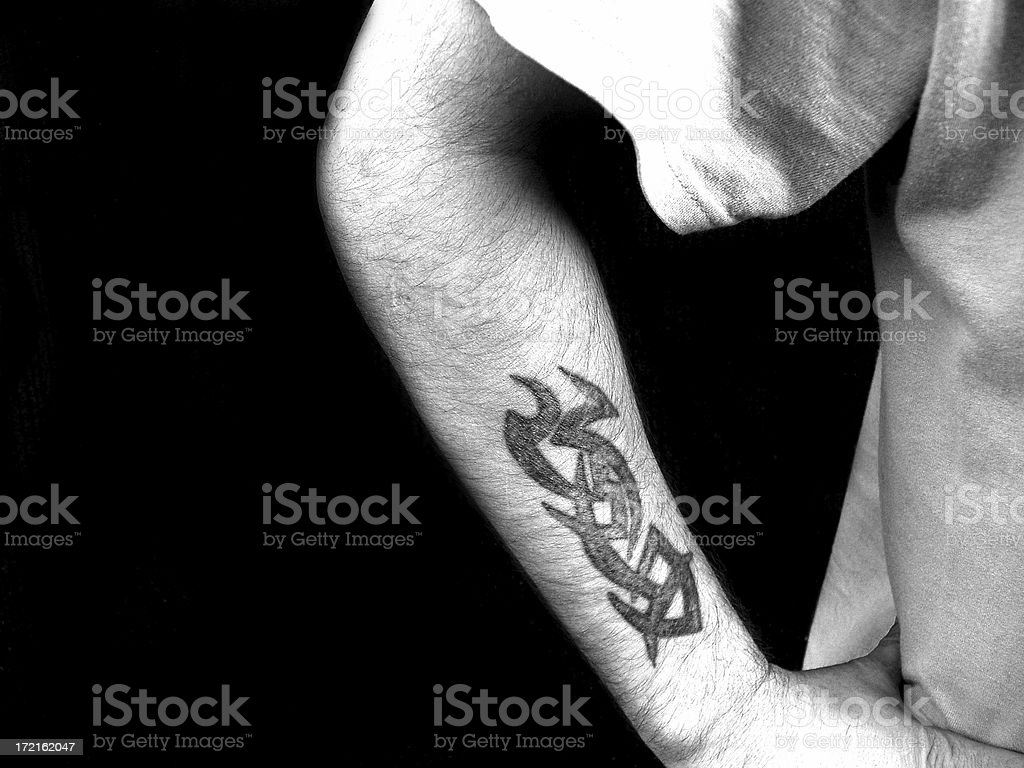 Tattoo - Black and White royalty-free stock photo