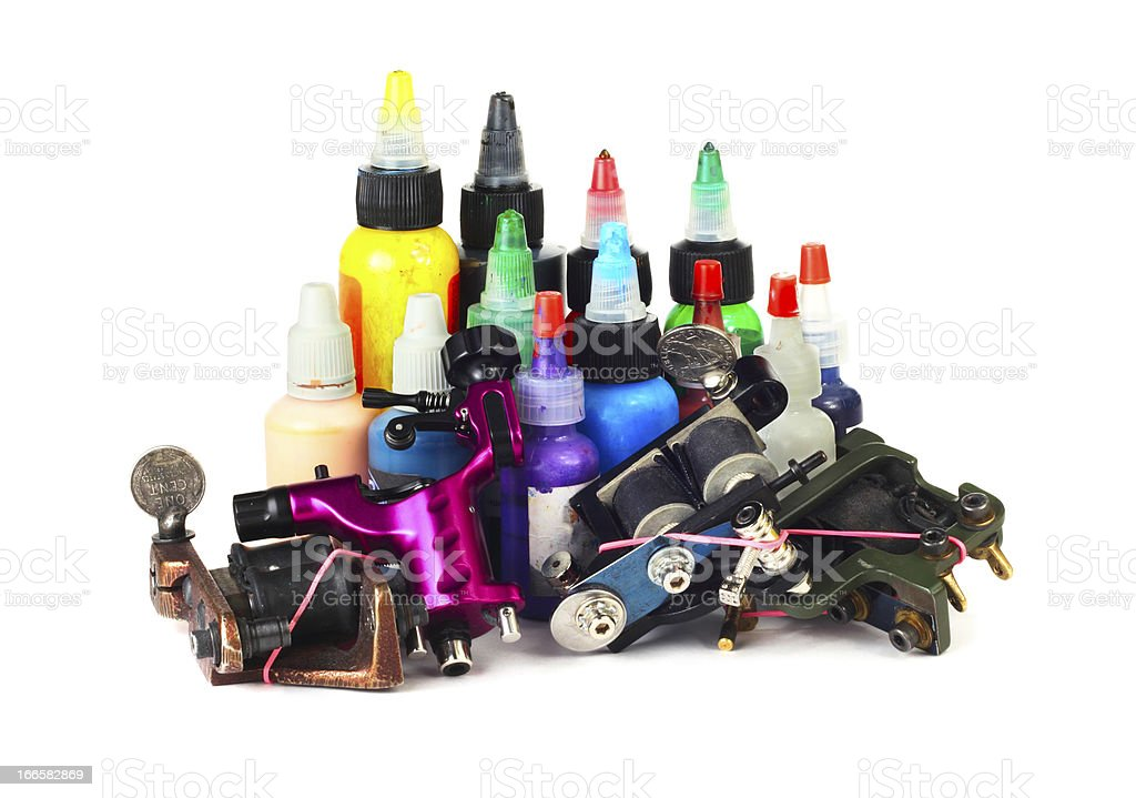 Tattoo machine with ink royalty-free stock photo