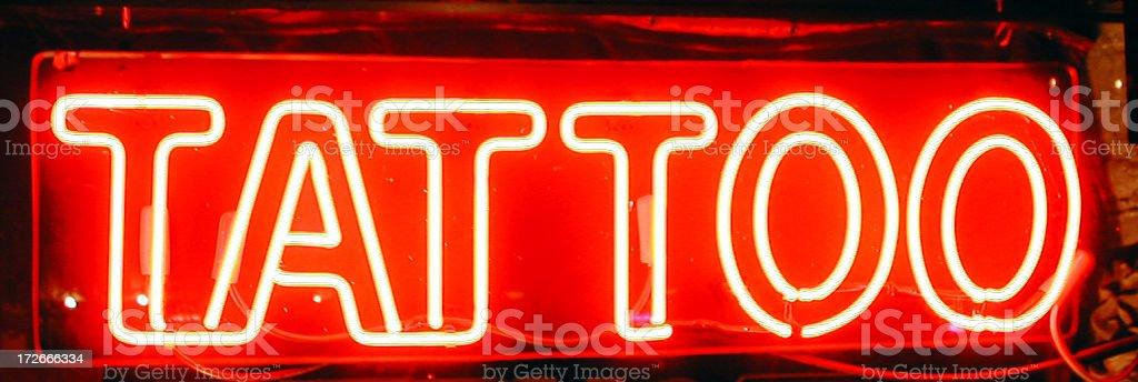 tattoo neon sign royalty-free stock photo
