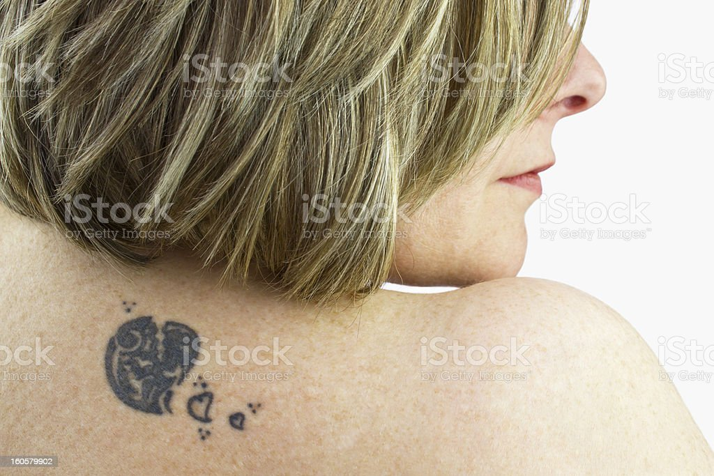 Tattoo of a woman royalty-free stock photo
