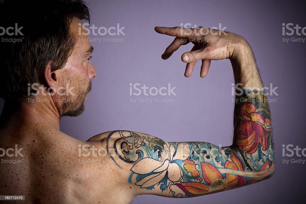 tattoo portrait royalty-free stock photo
