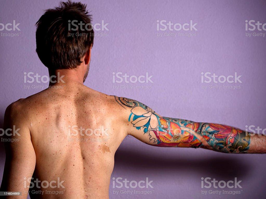 tattoo portrait royalty-free stock photo