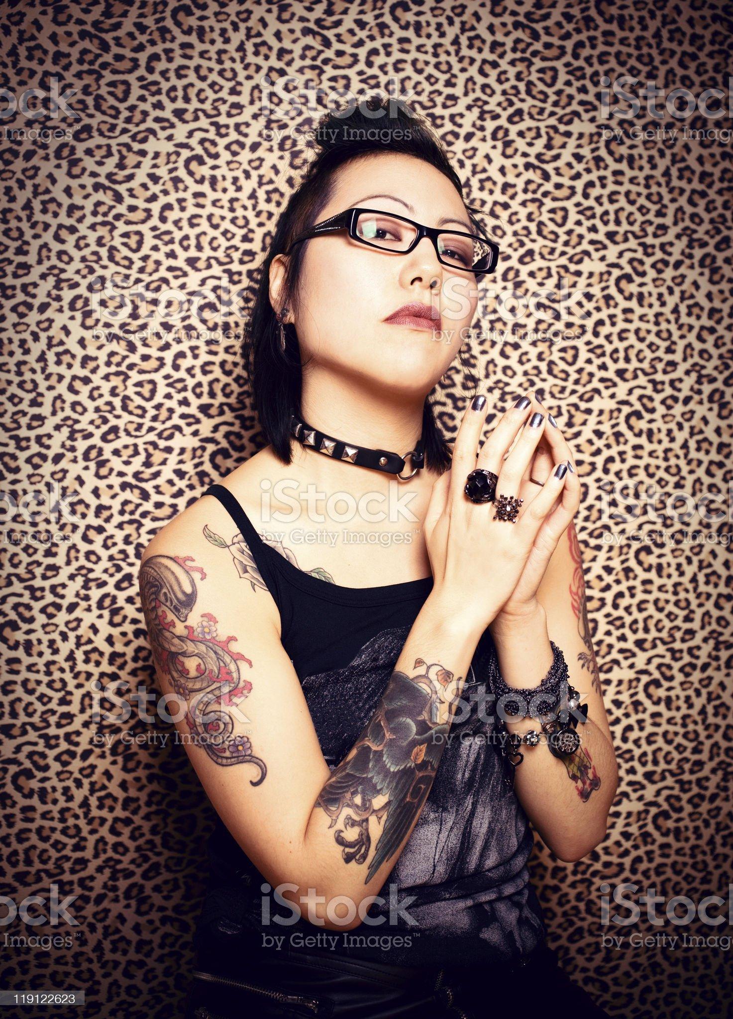 Tattoo Princess royalty-free stock photo