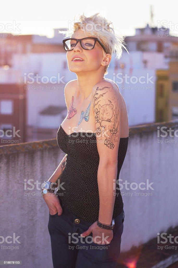 Tattoo this! stock photo