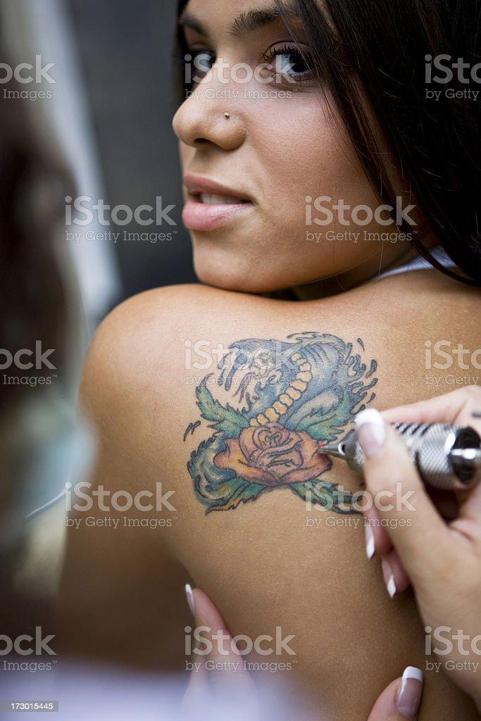 Tattoo work royalty-free stock photo
