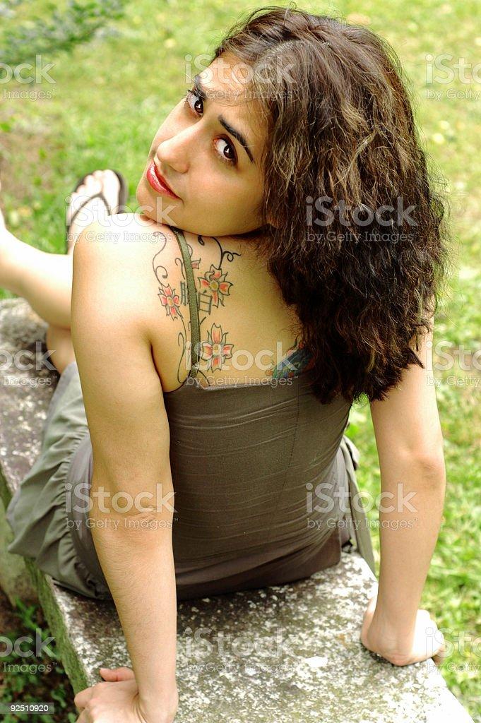 Tattooed beauty royalty-free stock photo