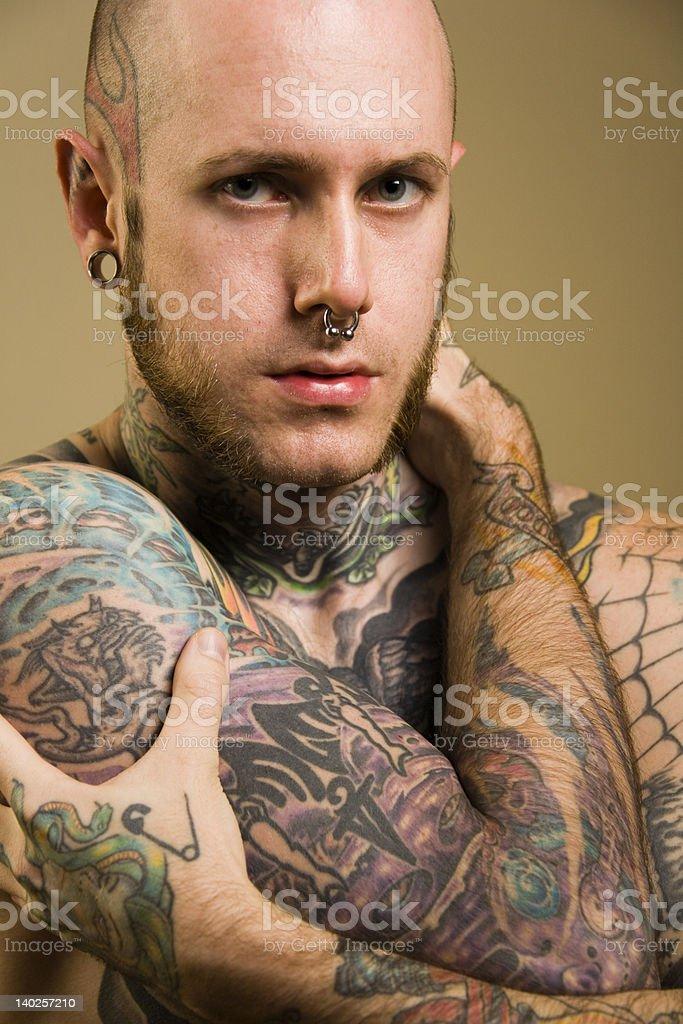 Tattoo maschio foto stock royalty-free