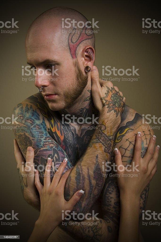 Tattoo uomo foto stock royalty-free