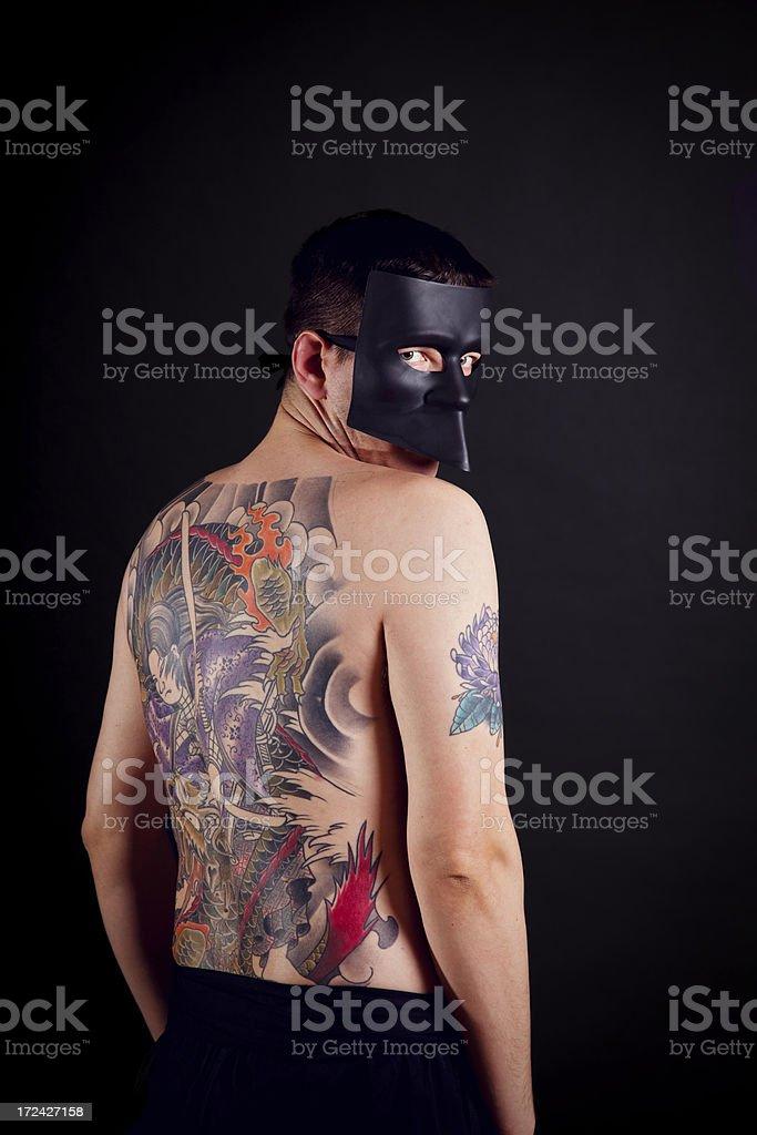 Tattooed royalty-free stock photo