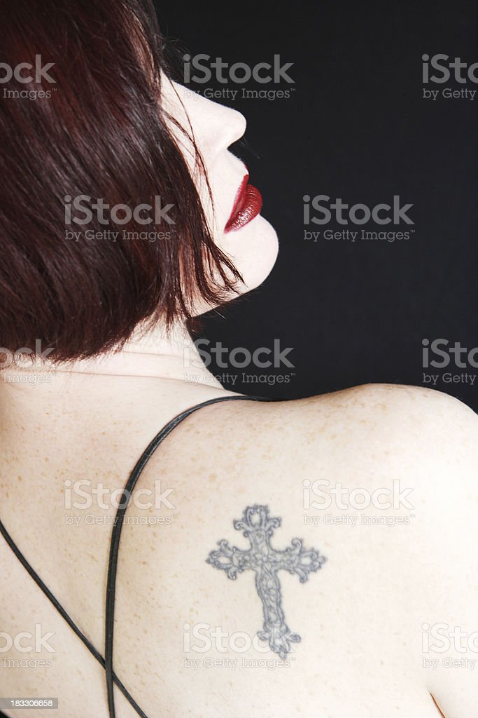 Tattooed royalty-free stock photo