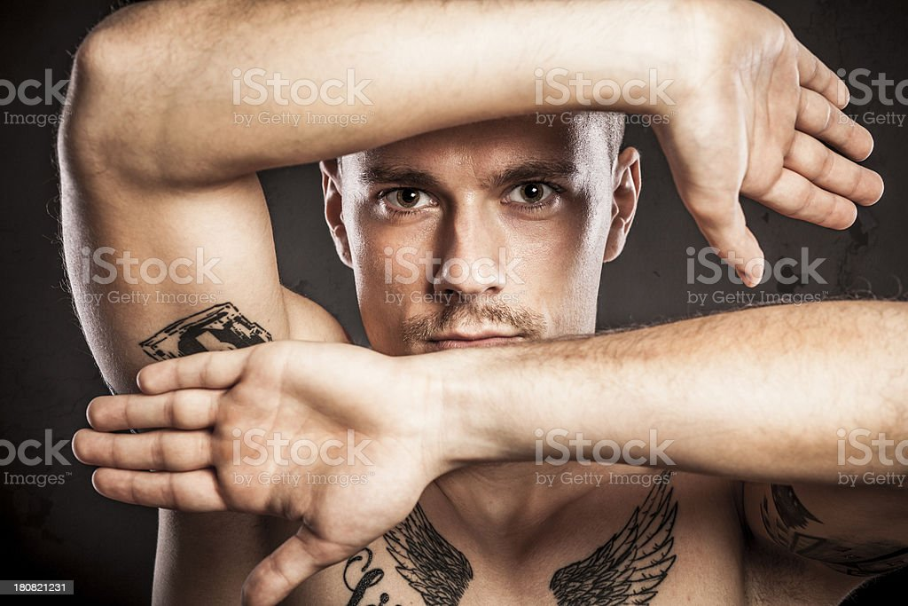 Tattooed young man royalty-free stock photo