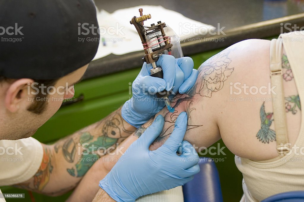Tattooing Series stock photo