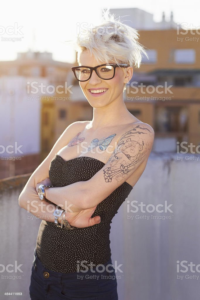 Tattoos are a part of my identity stock photo
