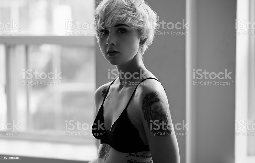 Tattoos are what feelings look like stock photo