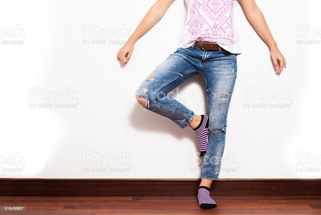 Tatty Jeans stock photo