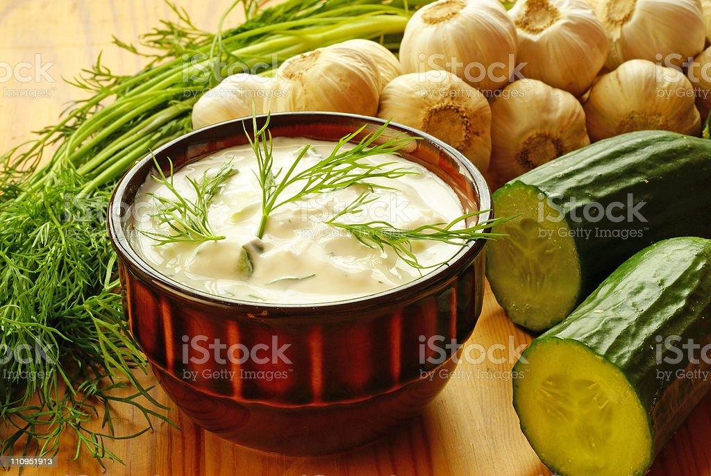 Tatziki sauce royalty-free stock photo