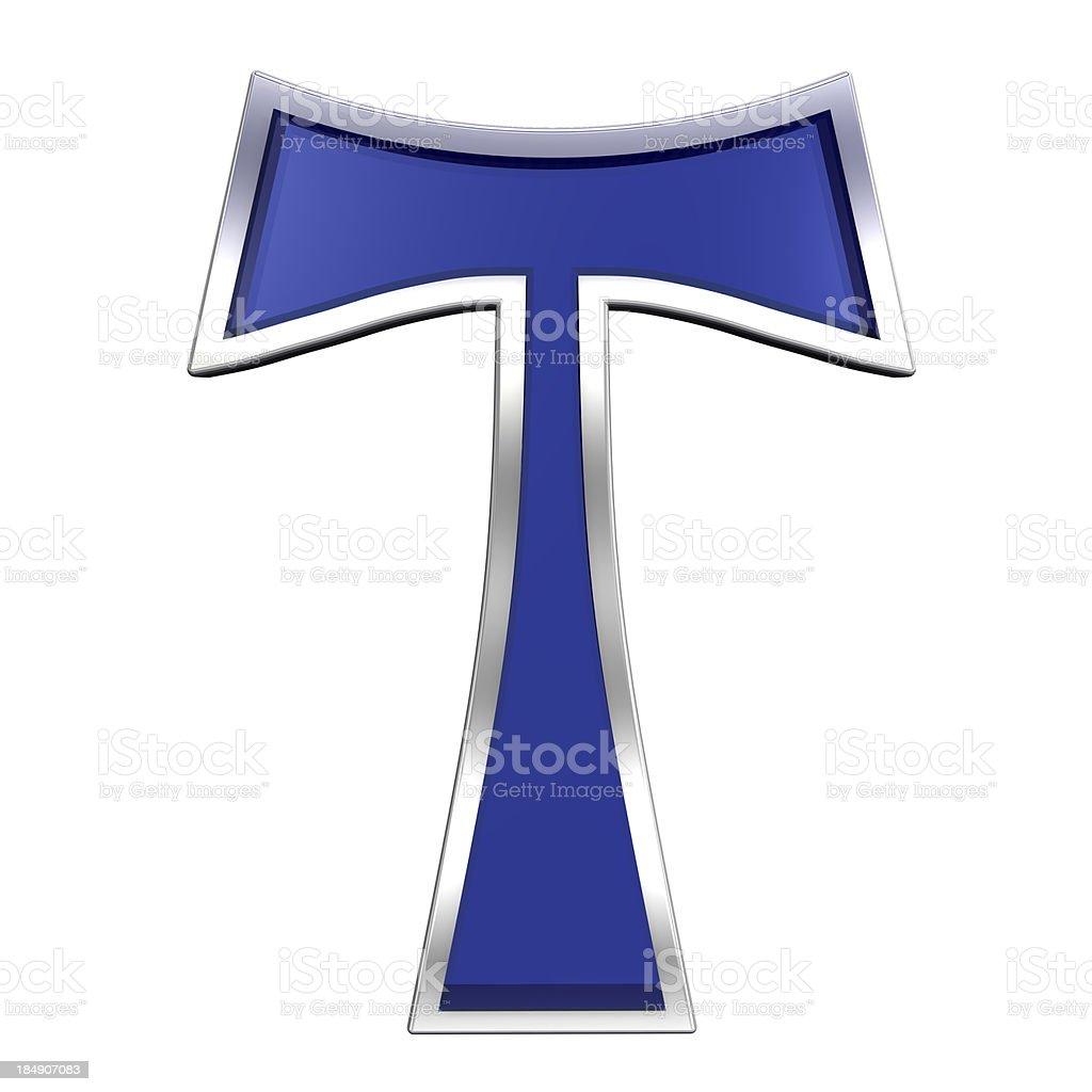 Tau cross isolated on white. stock photo